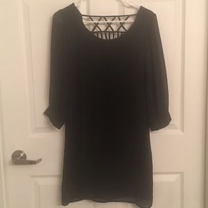 Black long sleeved dress - Medium
